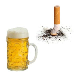 Alkohol a cigarety