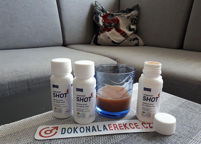 Proerecta Shot - Co očekávat od drinku na podporu erekce?