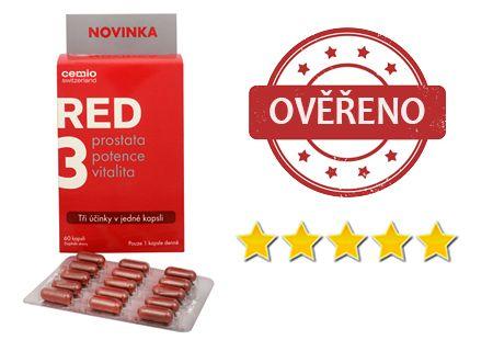 RED3 recenze - Vynikající produkt při léčbě prostaty