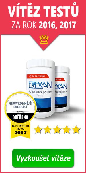 Erexan: Vítěz mezi léky na erekci za rok 2016 a 2017